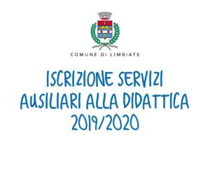 Iscrizione servizi ausiliari alla didattica 2019/2020