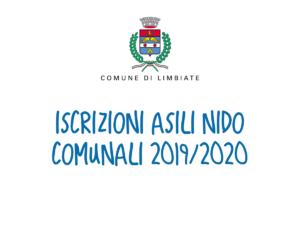 Iscrizioni Asili Nido Comunali 2019/2020