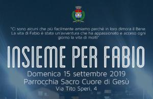 """""""Insieme per Fabio"""" – 15 settembre"""