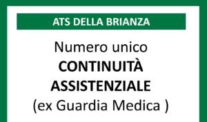 Continuità Assistenziale: nuovo numero verde