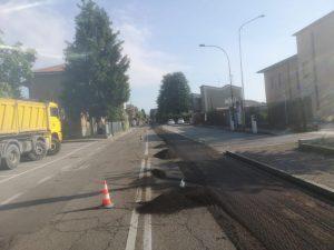 Via XXV aprile: al via i lavori di asfaltatura