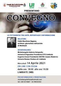 """Convegno online sul tema """"Fotografia"""", 14 aprile ore 18.30"""