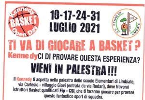 Open day U.S. Kennedy Basket – 4 appuntamenti