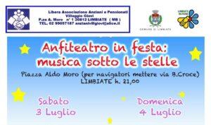 """""""Anfiteatro in festa"""" – 3 e 4 luglio in piazza Aldo Moro"""